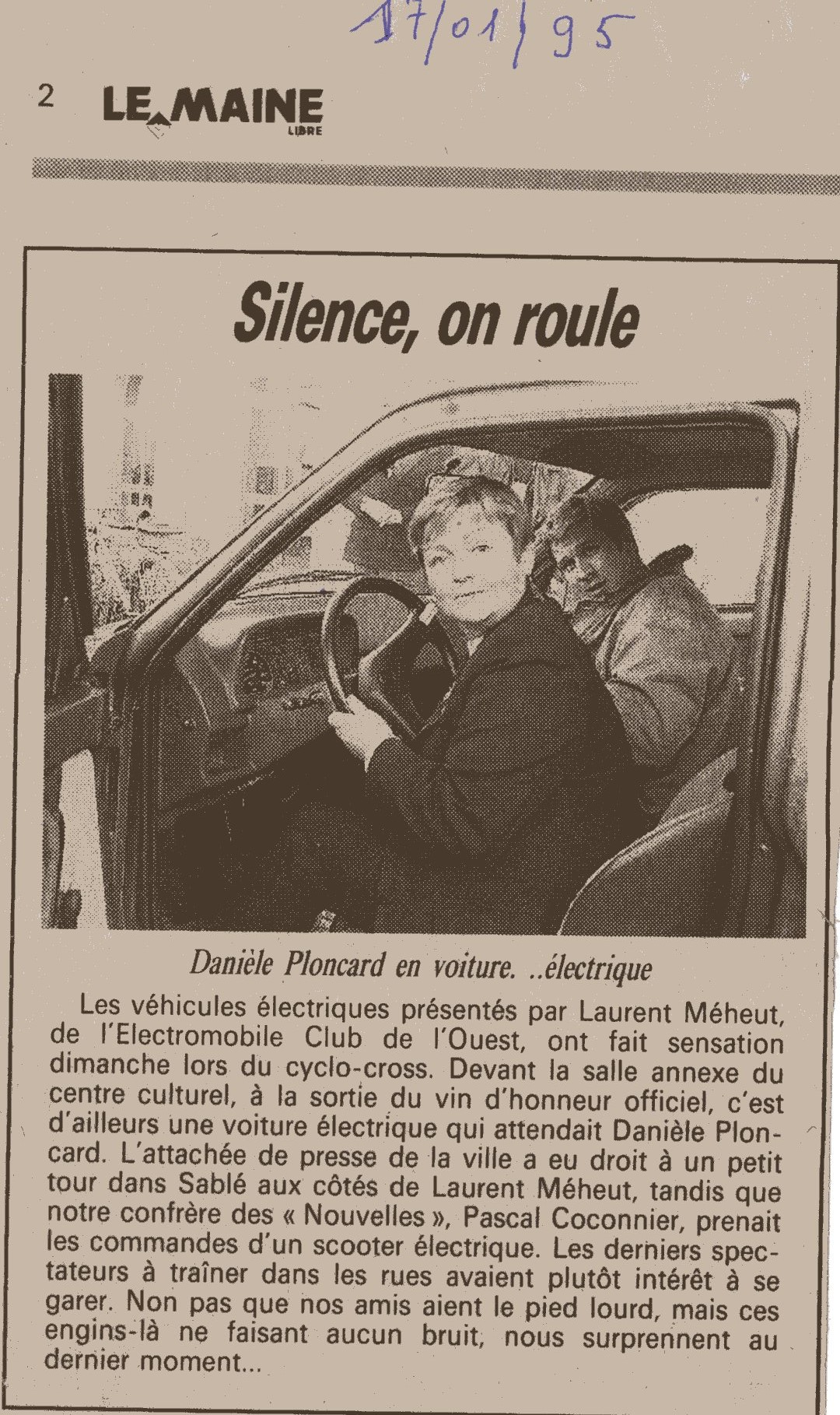 Le Mans 1995 laurent meheut et danielle ploncard
